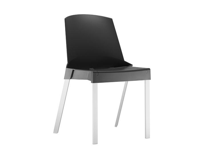Cadeira Fixa SHI002 - Base Fixa em Alumínio - Linha Shine - Sem Braço - Frisokar