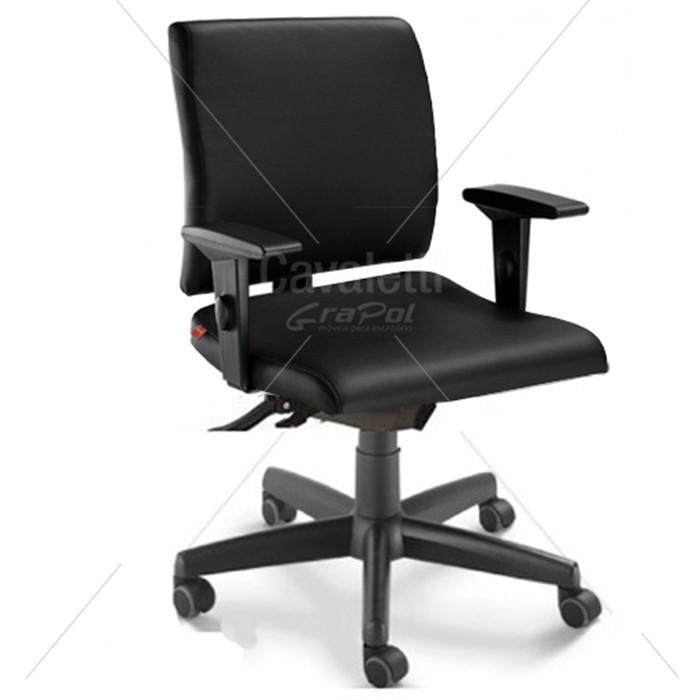 Cadeira para escritório executiva giratória 18004 SRE - Linha Slim - Braço SL - Cavaletti - Base Polaina