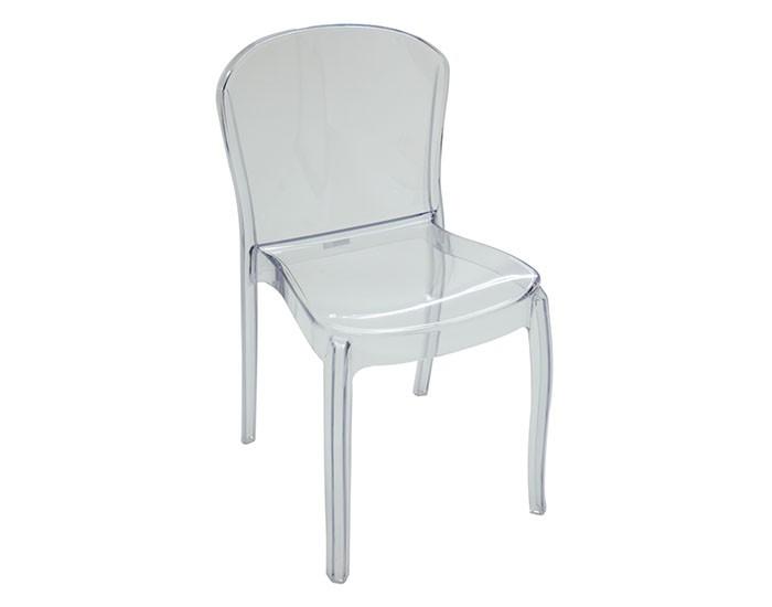 Cadeira Tramontina Anna Transparente sem Braços em Policarbonato