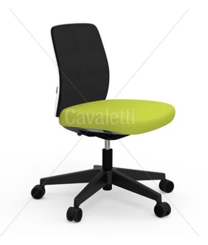 Cadeira para escritório giratória média 40202 Reunião - Linha Idea - Cavaletti - Base em Nylon