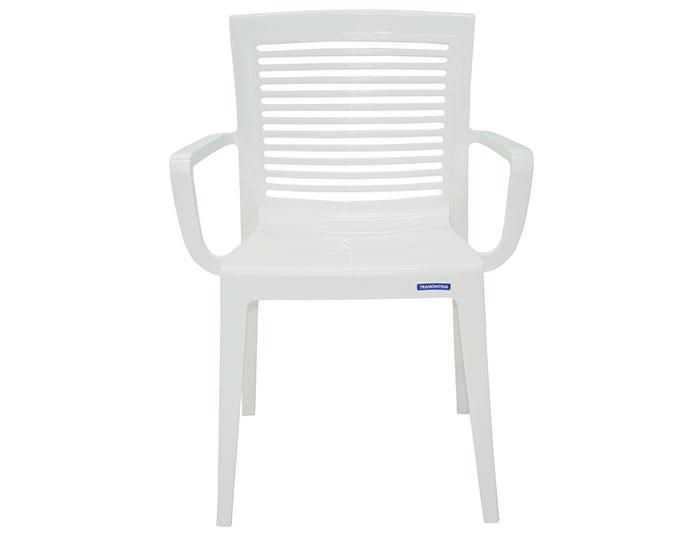 Cadeira Tramontina Victória com Braços com Encosto Vazado Horizontal em Polipropileno -