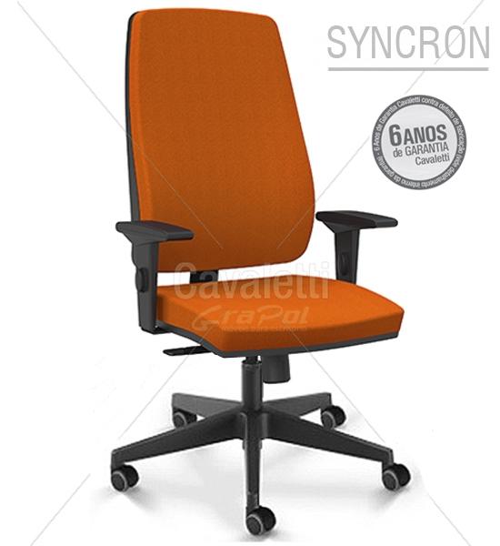 Cadeira para escritório giratória presidente 38001 L Syncron - Linha Pro - Braço SL -  Cavaletti - Base Nylon -