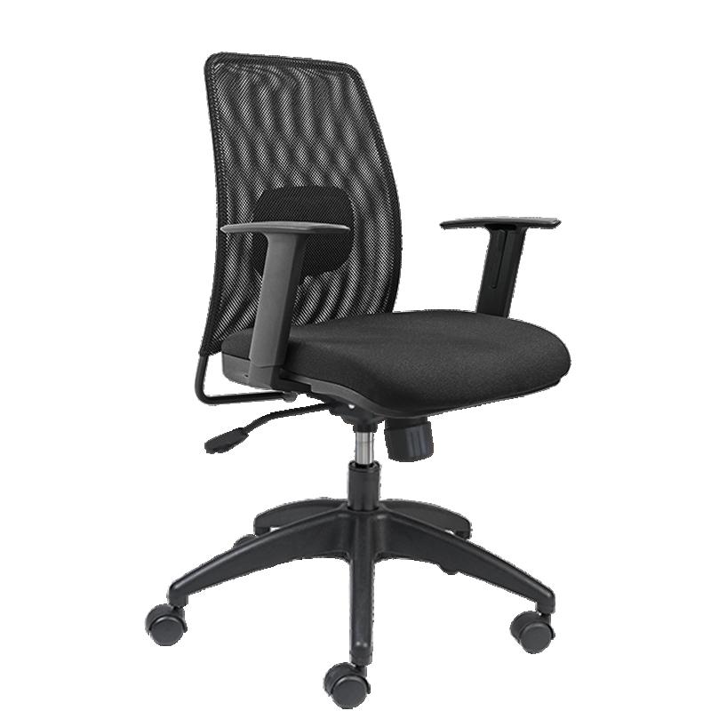 Cadeira Presidente Only Médio - Encosto em Tela Mesh - Com Apoio Lombar - Base Nylon - Relax - OMP