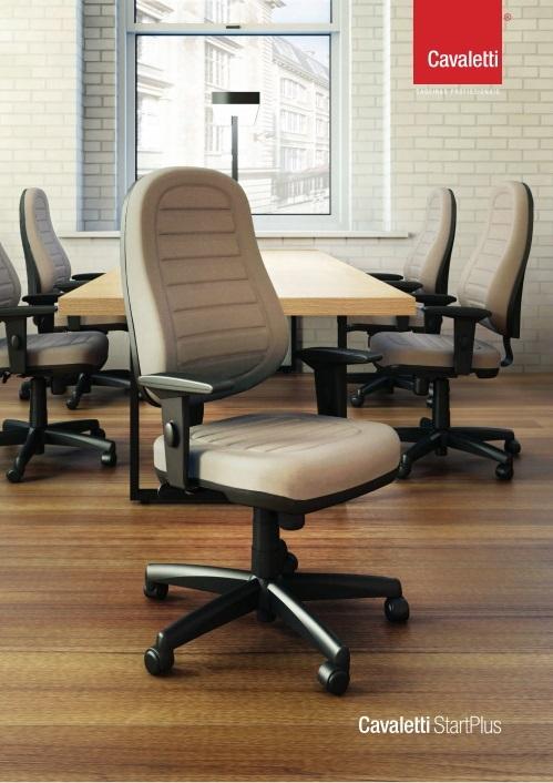 Cadeira para escritório giratória presidente 6001 RELAX Braço SL -  Linha Star Plus - Cavaletti - Base Polaina -