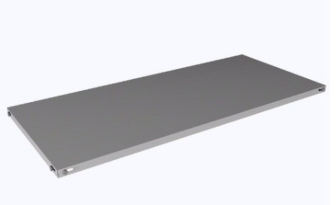 Prateleira avulsa de aço - Sem reforço - com parafusos e porcas. 925mm x 300mm