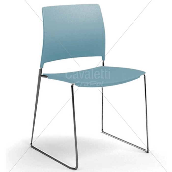 Cadeira para escritório fixa aproximação 34006 A - Estrutura Preta - Linha Go - Cavaletti