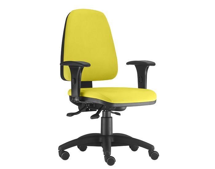 Cadeira Para Escritório Presidente Giratória SKY445 - Mecanismo Evolution - Base Nylon - Linha SKY- Com Braço PP - Frisokar