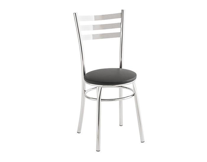 Cadeira 404 em Aço - Assento Redondo - Estofada - Unimóvel