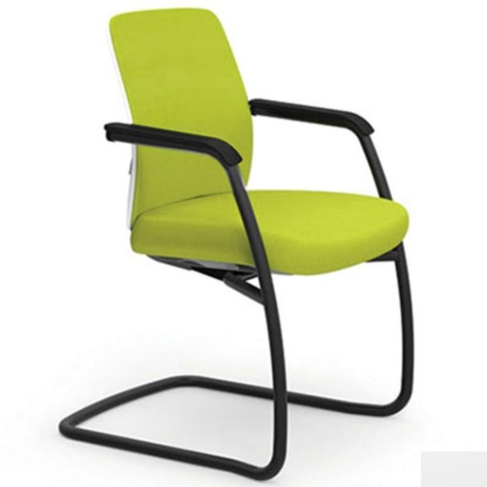 Cadeira fixa estrutura (SI) e braços pretos integrados 40106 SI - Linha Idea - Cavaletti