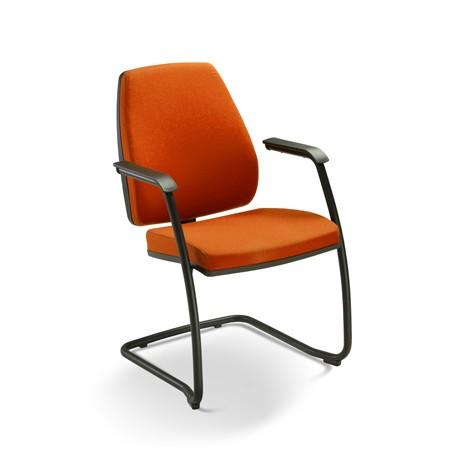Cadeira para escritório fixa aproximação 38006 SI - Encosto alto - ESTRUTURA PRETA - Linha Pro - Cavaletti