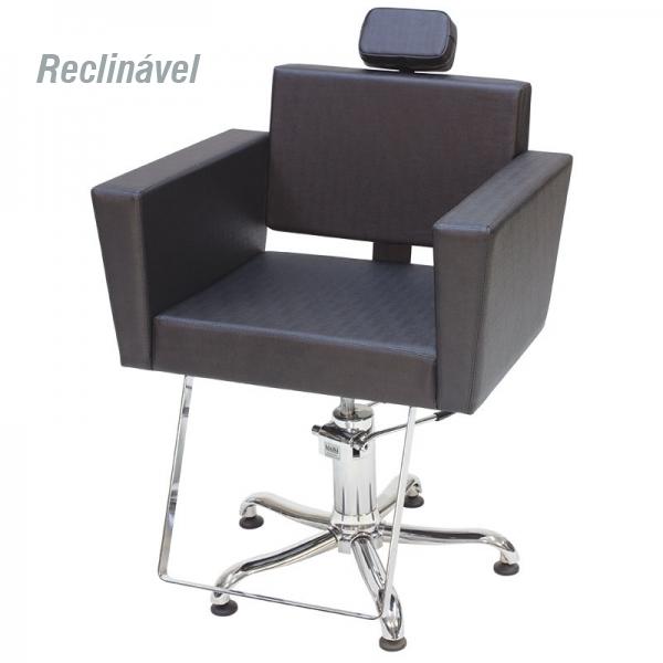 Cadeira Niágara - Encosto Reclinável - Com Cabeçote - Sem Descanso de Pernas - Kixiki Móveis