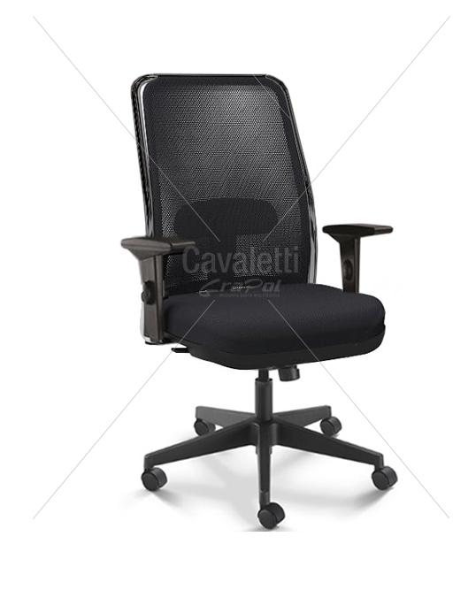 Cadeira para escritório giratória presidente 16001 (LR) - Syncron - Braço SL - Linha NewNet - Cavaletti - Base Nylon