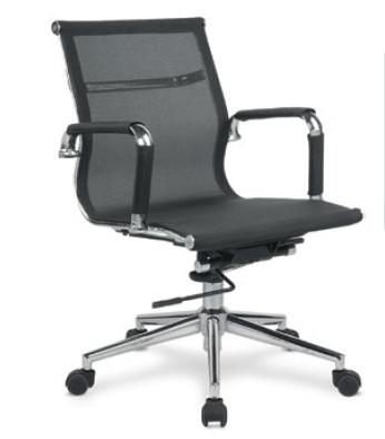 Cadeira para escritório giratória Diretor BLUME 02 - Mecanismo RELAX - Braço fixo - Base Cromada