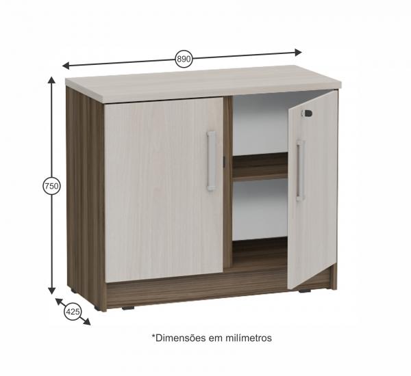 Artesanato Simples ~ Armário baixo para escritório 2 portas Grapol Móveis Móveis para Escritório