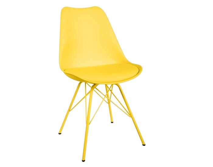 Cadeira ANM 6065 - Base em Aço - Assento Anatômico Estofado - Anima Home & Office -