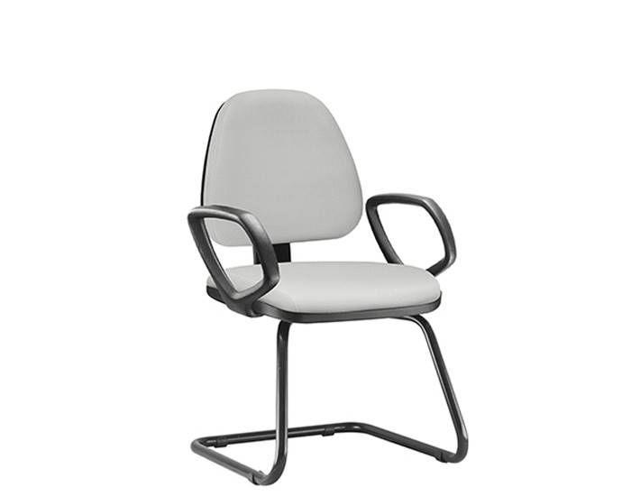 Cadeira Fixa SKYFX042 - Base SKL - Linha SKY- Com Braço PU - Frisokar