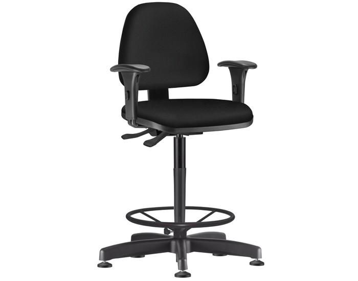 Cadeira Caixa Giratória SKYCX540 - Mecanismo Evolution - Base Caixa com Aro - Linha Job - Braço PP Reto  - Frisokar