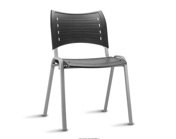 Cadeira Fixa ISO017 - Base Fixa Cinza - Linha ISO - Sem Braço - Frisokar