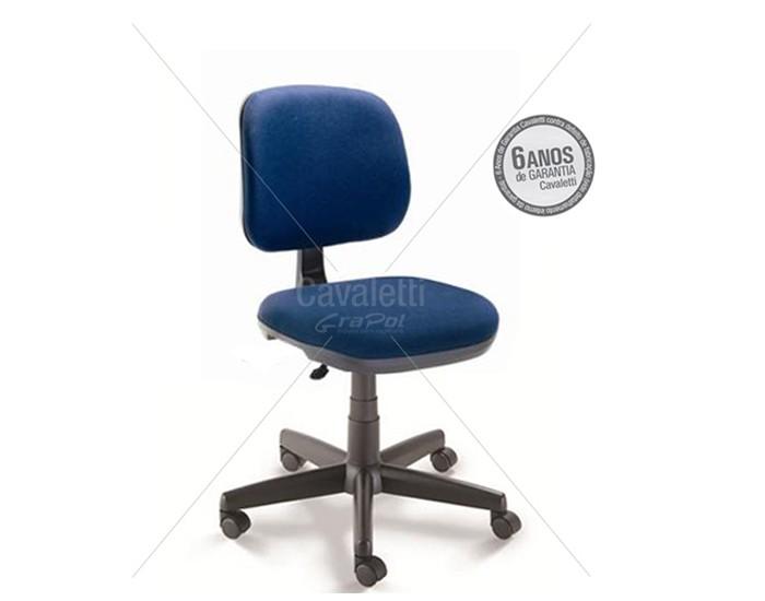 Cadeira para escritório Executiva Giratória 4103 BG - Linha Start - Cavaletti - Base Nylon - Sem Braços