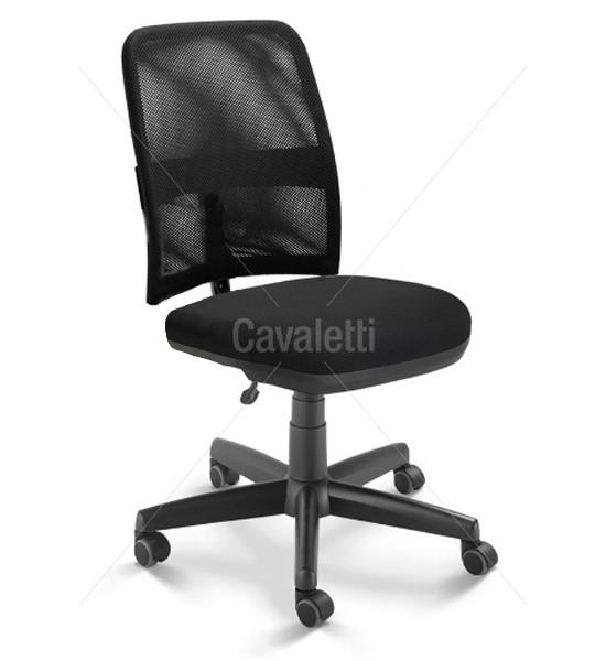 Cadeira para escritório executiva giratória 16003 BG- Linha NewNet - Cavaletti - Base Polaina