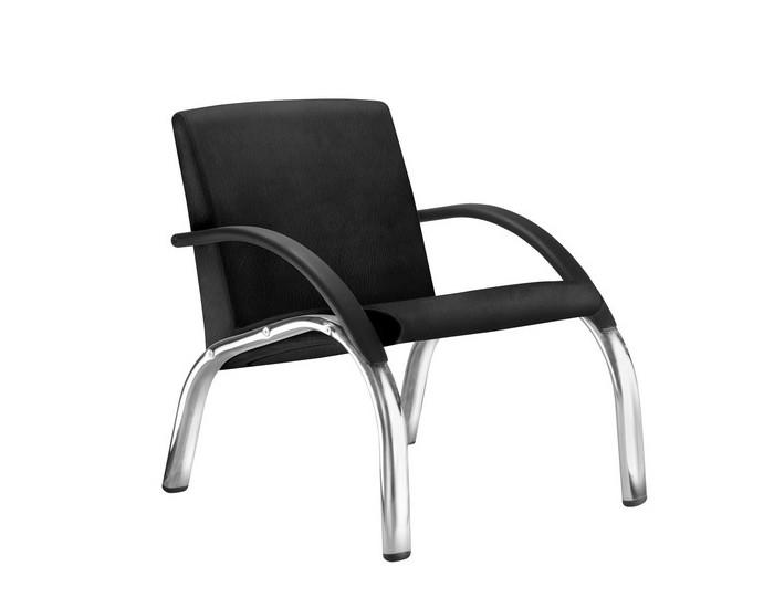 Cadeira Fixa HAR011- Base Fixa Cromada - Com Braço - Linha Harmony Lounge - Frisokar -