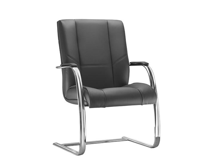 Cadeira Fixa KONIFX09 - Base SKL Cromada - Linha New Onix - Com Braço Cromado - Frisokar