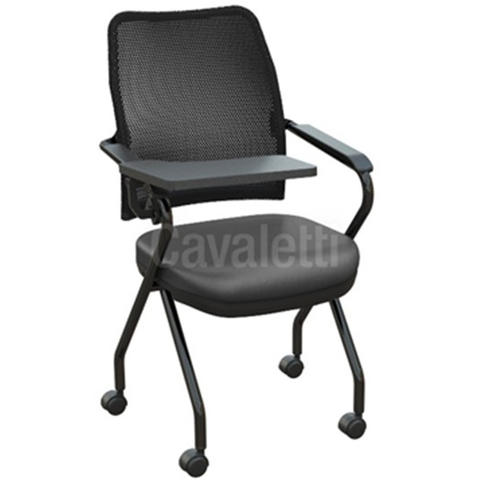 Cadeira Universitária 16006 Z - Prancheta Retrátil - Estrutura Preta - Linha NewNet - Cavaletti
