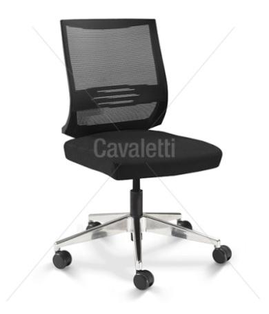 Cadeira para escritório giratória 27001 SL - BG - Linha Air - Cavaletti - Base em Alumínio