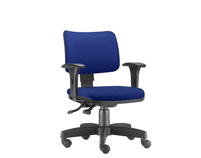 Cadeira Para Escritório Diretor Giratória ZIP009 - Mecanismo Evolution - Encosto Estofado - Base Metálica com Capa - Linha ZIP - Com Braço PP - Frisokar