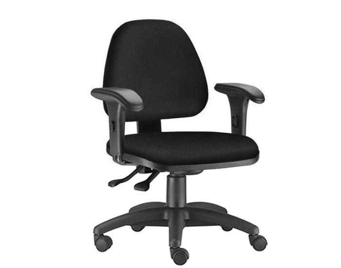 Cadeira Para Escritório Diretor Giratória SKY216 - Mecanismo Evolution - Base Metálica com Capa - Linha SKY- Com Braço PP - Frisokar