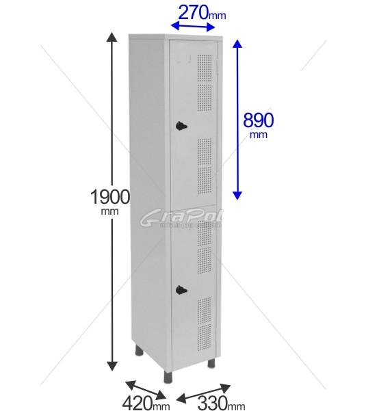 Roupeiro Para Vestiário RGRSP 2 2 Portas - Com Fecho Porta-Cadeado - RCH