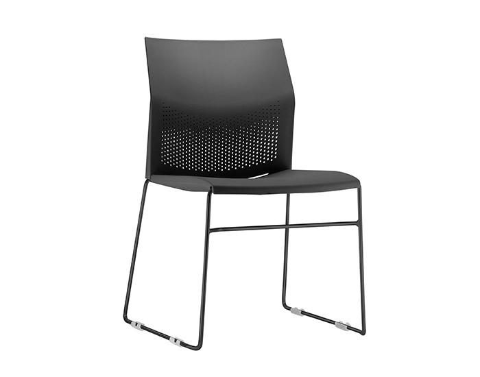Cadeira Fixa CON001 - Base Fixa Preta - Linha Connect Coletiva - Sem Braço - Frisokar