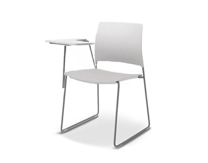 Cadeira para escritório fixa Universitária com Prancheta Escamoteável 34006 A -  Estrutura Prata - Linha Go - Cavaletti