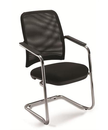 Cadeira para escritório fixa aproximação 16006 S - Estrutura Cromada - Linha NewNet - Cavaletti