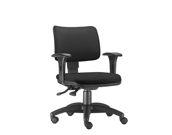 Cadeira Para Escritório Diretor Giratória ZIP189 - Mecanismo Evolution - Encosto Estofado - Base Nylon - Linha ZIP - Com Braço PP - Frisokar