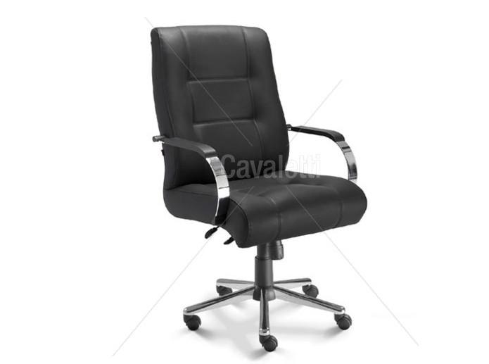 Cadeira para escritório giratória diretor 20103 Extra - Linha Prime - Cavaletti - Base Estampada Cromada