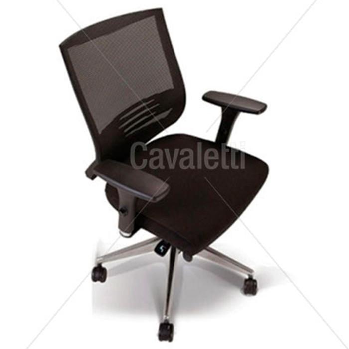 Cadeira para escritório giratória 27001 - Syncron - Linha Air - Braço SL - Cavaletti - Base em Alumínio