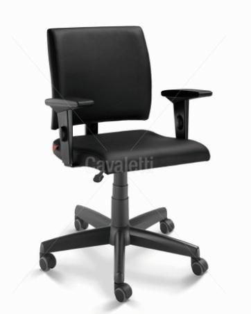 Cadeira para escritório executiva giratória 18004 BG - Aranha Polaina - Linha Slim - Braço SL - Cavaletti - Base Polaina