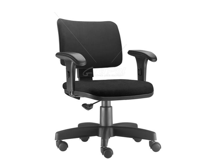 Cadeira Para Escritório Diretor Giratória ZIP036 - Mecanismo Base a Gás- Encosto Estofado - Base Metálica com Capa - Linha ZIP - Com Braço PP - Frisokar