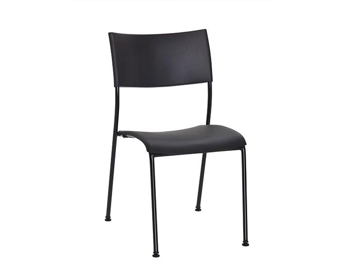 Cadeira Fixa NEW002 - Base Fixa Preta - Linha New Coletiva- Sem Braço - Frisokar