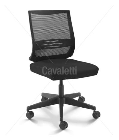 Cadeira para escritório giratória 27001 SL - BG - Linha Air - Cavaletti - Base em Nylon