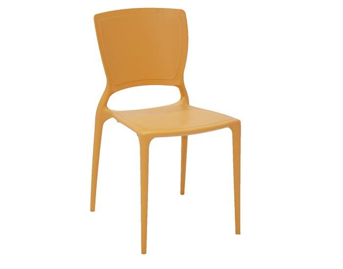 Cadeira Tramontina Sofia sem Braços com Encosto Fechado em Polipropileno e Fibra de Vidro